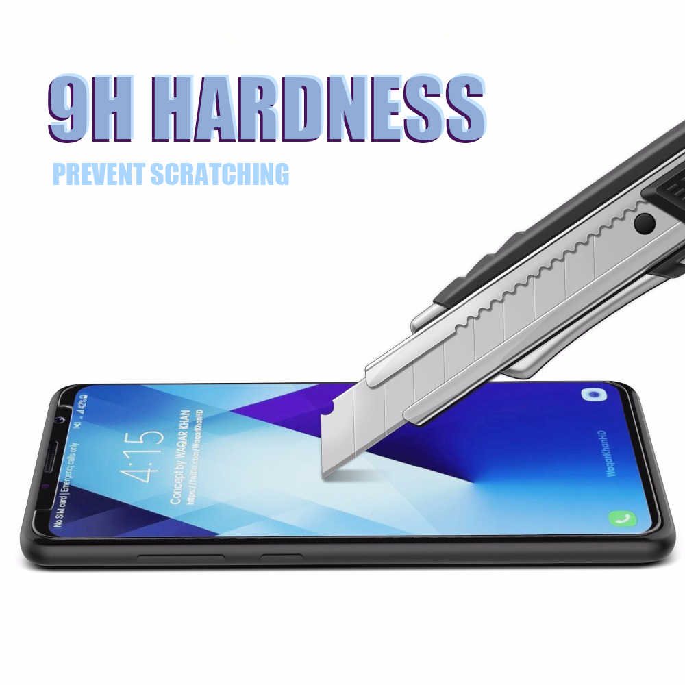 9H Tempered Glass on the For Samsung Galaxy A3 A5 A7 2015 2016 2017 A6 A8 Plus A9 2018 Screen Protector Protective Glass Film