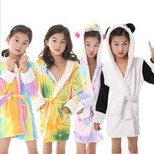 Kigurumi/Детские Банные халаты с капюшоном и единорогом; детский банный халат со звездами и радугой; пижамы для мальчиков и девочек; ночная рубашка; детская одежда для сна