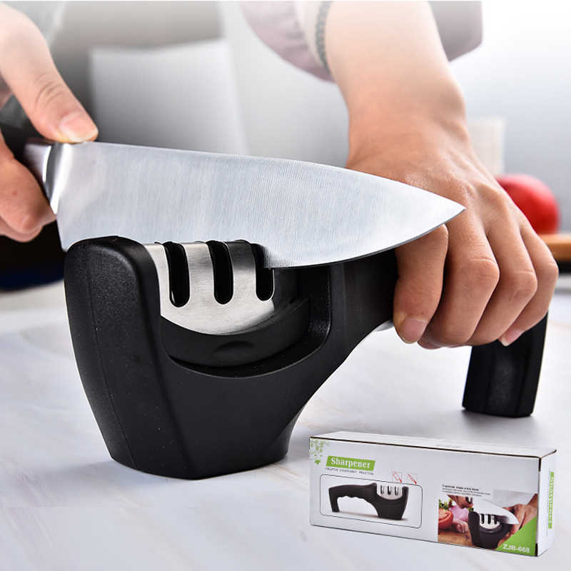 Kitchen 3 Stage Fast Knife Sharpener Professional Kitchen Sharpening Stone Diamond Ceramic Tungsten Steel Sharpening Stone