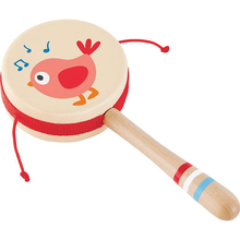 Hape Music instruments Musical Toys for kids Wooden Children's hand drum baby toy цена