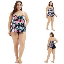 Sexy Women Printing Floral Plus Size One piece Swimsuit Dress Skirt Beachwear Larger Monokini 5XL Beach Bathing Suit D35