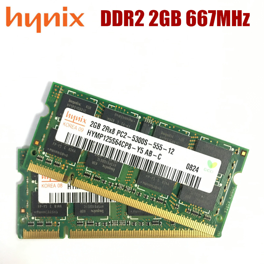 Hynix чипсет 2G 2 Гб DDR2 PC2 5300 667 МГц 6400 800 МГц 2RX8 портативный memoria 2G PC2-5300S 6400s DDR2 667 МГц 200pin Тетрадь Оперативная память