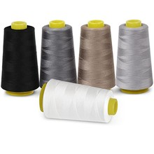 100% Polyester Overlocking Sewing Machine Thread for 5 Colours 7000 Yard Cones(China)