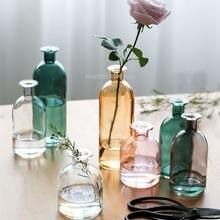 Ваза для гостиной в скандинавском стиле стеклянная прозрачная
