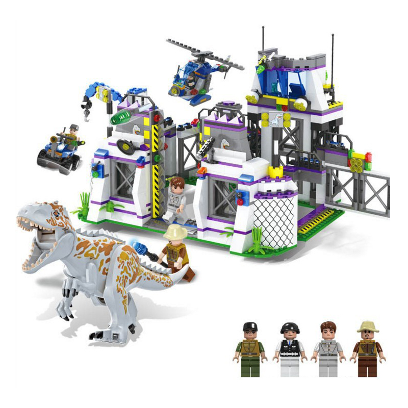 <font><b>TS8000</b></font> 826pcs Jurassic Dinosaur World Building Block Toys Children's Christmas gift Compatible With image