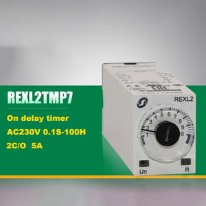 Schneider Electric REXL2TMP7 таймер задержки 230VAC 5A 0,1 S-100H 8-контактный 2NO 2NC абсолютно новый оригинальный импортный