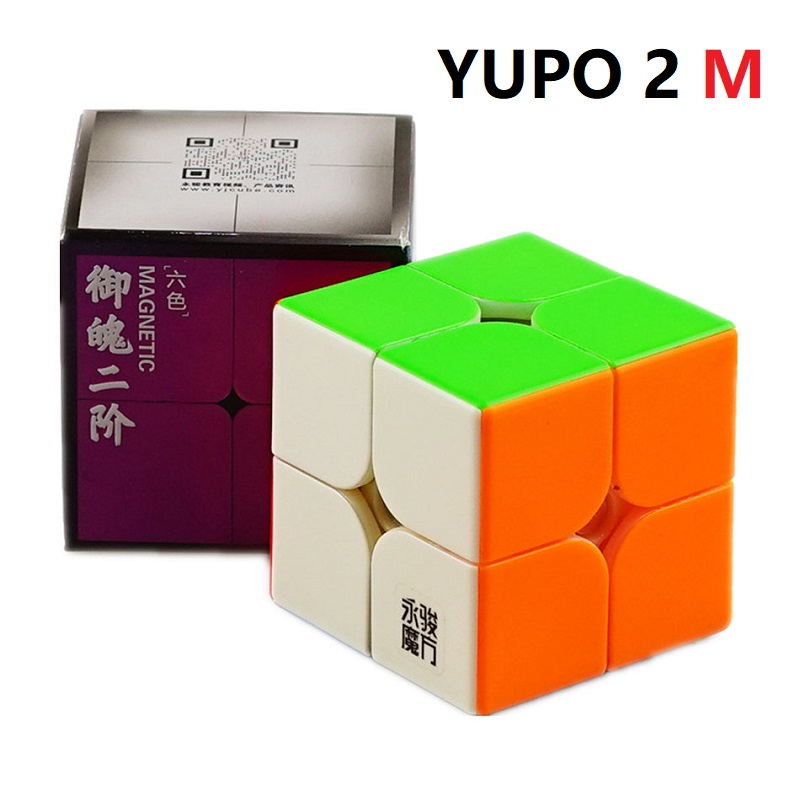YJ Yupo 2x2 Magnetic Magic Cube Yongjun Yupo 2x2x2 M Magnetic Brain Teaser Educational Toys For Kids Neo Cube Puzzles