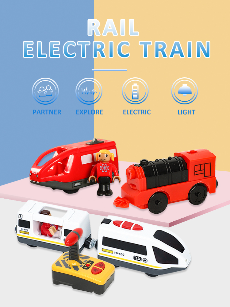 Diecast Tracks Electric-Train-Toys Wood Two-Carriages-Train Brio Kids with FIT T-Hmas