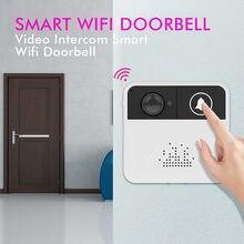 Bezprzewodowy WiFi inteligentny zdalny aparat telefon drzwi wideo intercom IR dzwonek bezpieczeństwa QJY99