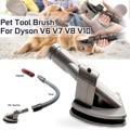 Шланг для домашних животных всасывающий инструмент для животных щётка для пылесоса адаптер для головки для Dyson V6 V7 V8 V10 пылесос запасные час...