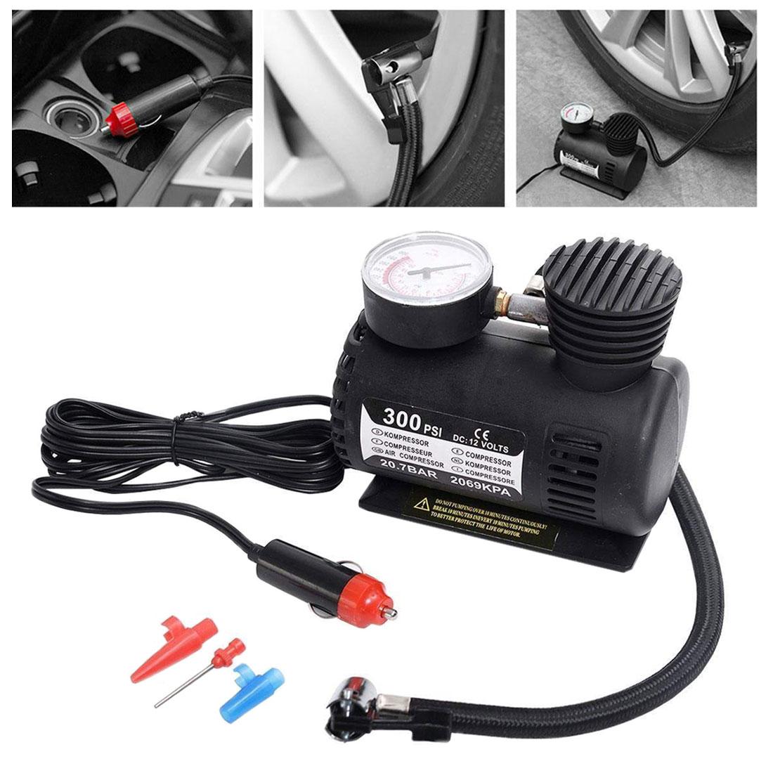 ABS Automotive Durable Vehicle Mini Air Compressor 300 PSI Tire Inflator Pump DC 12V Car Parts Car Accessories