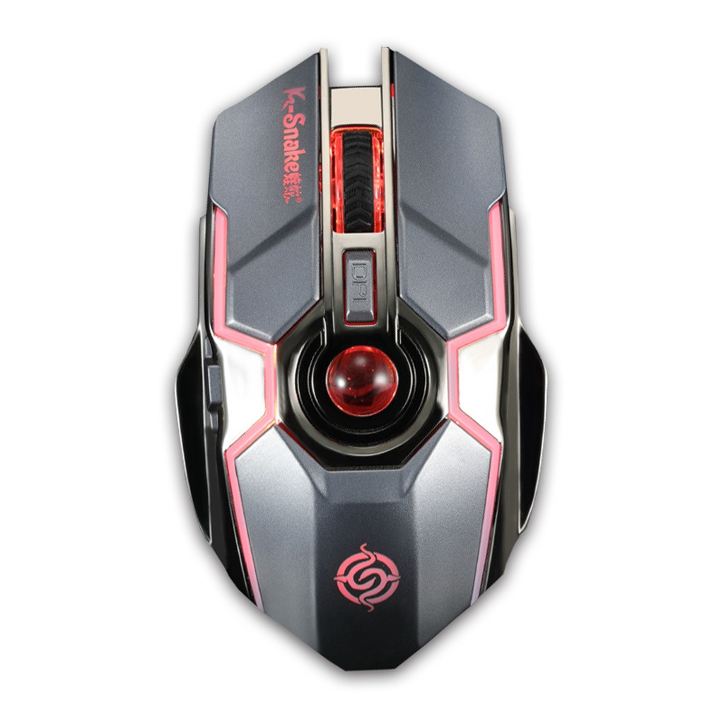 GARPRIE Rechargeable Wireless Gaming Mouse BM500  Wireless Optical Mouse Wireless Gaming Optical Mouse LED 2.4GHz Computer Mouse