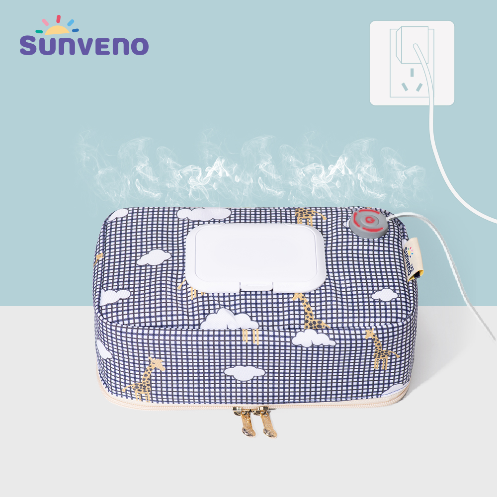 Sunveno Baby Wipe Warmer Wipes Dispenser Heater Wet Towel Dispenser Napkin Heating Box Home/Car Use Mini Wipe Warmer Case