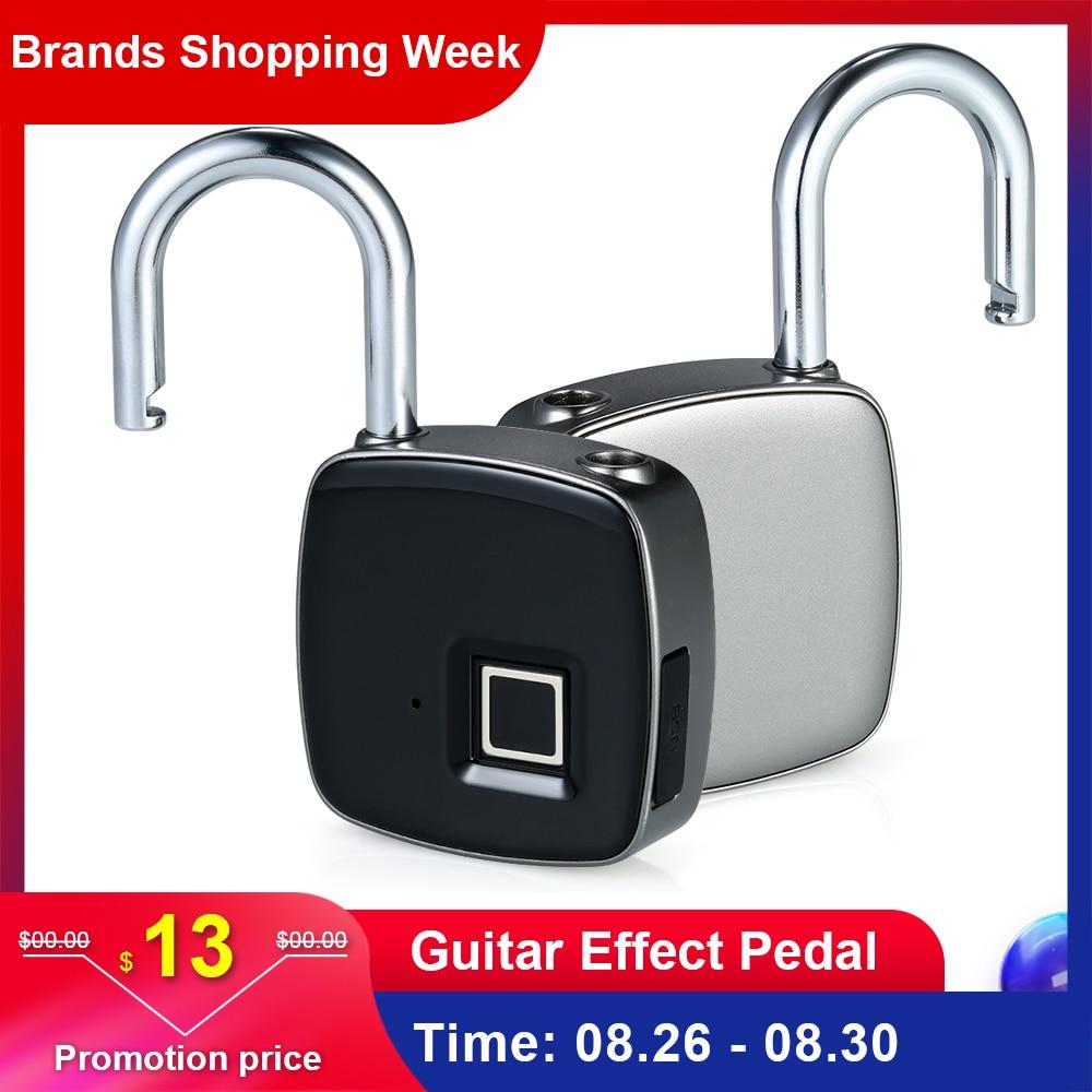 Smart Lock Keyless Fingerprint Lock IP65 Waterproof cerradura inteligente Anti Theft Security Padlock Door Luggage Case Lock