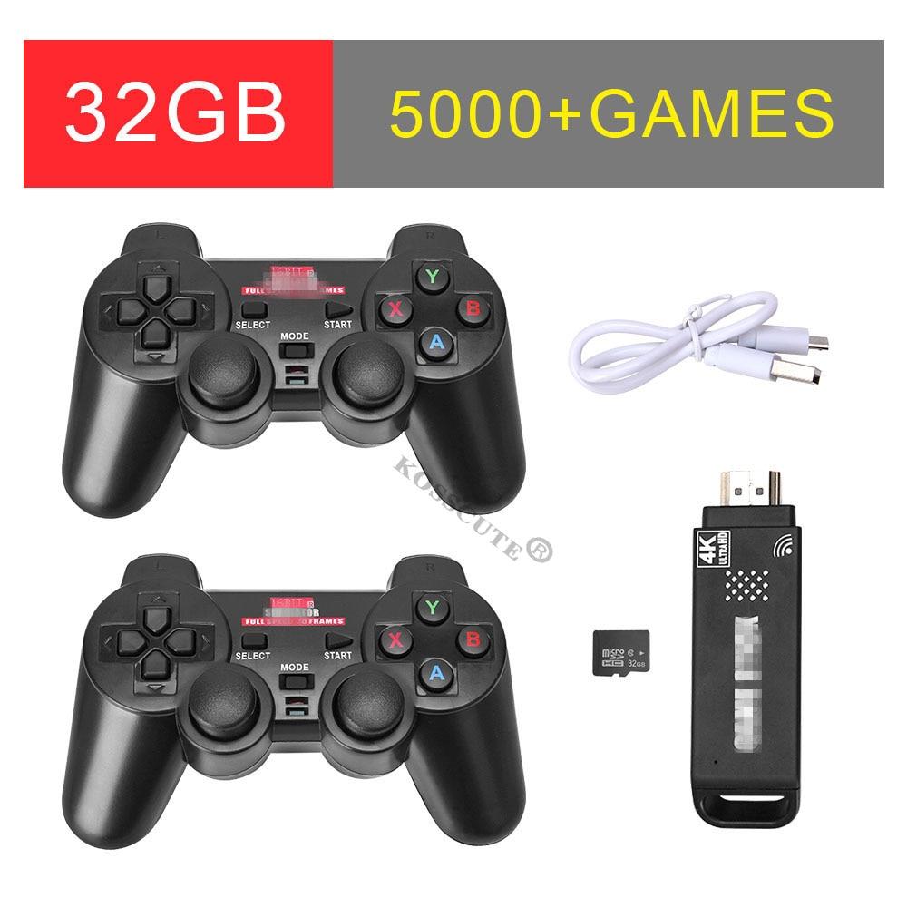 USB Wireless Controller Gamepad Joystick Joypad For Tablet PC Smart TV Box 4K Ultra Game Stick 5000 Games 32GB