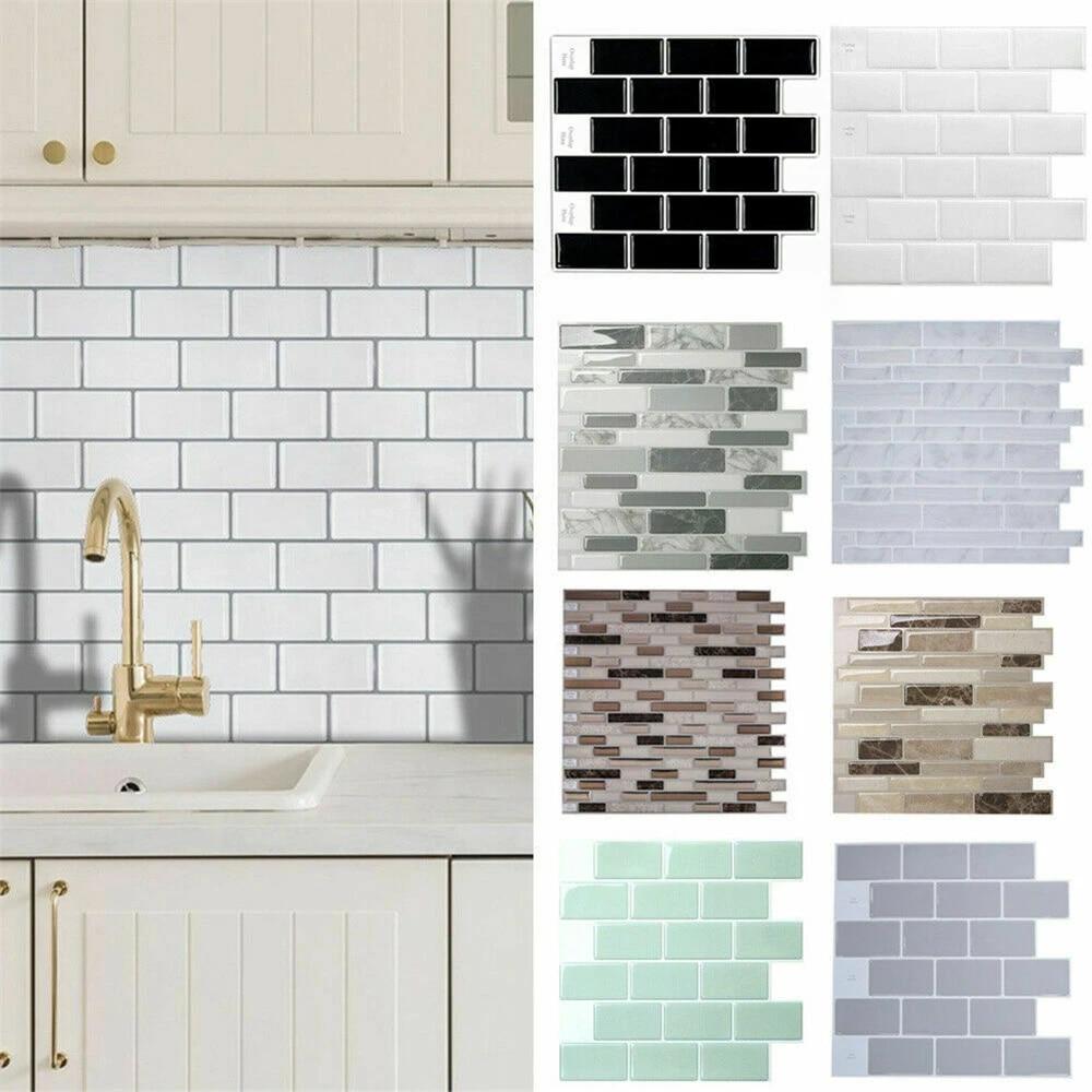 Self adhesive Kitchen Wall Tiles Bathroom Mosaic Brick Sticker Peel & Stick