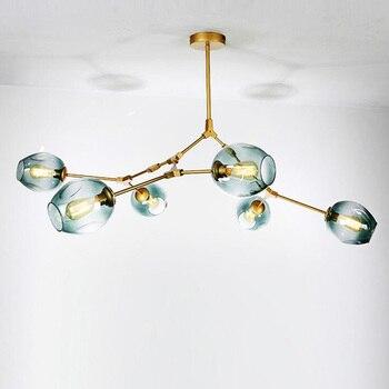 Globe Glass Chandeliers Lights Modern pendant Ball Lamp Nordic LED Hanging Light for dining room restaurant