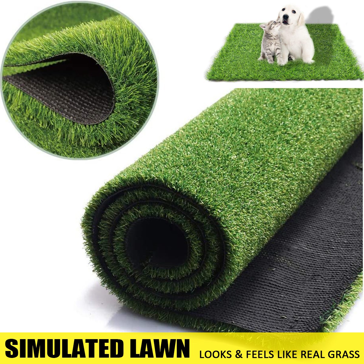 50x50cm 50x100cm Artificial Grass Synthetic Lawn Turf Carpet Perfect For Indoor Outdoor Landscape