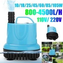 10/18/25/45/60/85/105W Submersible Water Pump 800-4500L/H 110-220V Aquarium Fish Pond Tank Spout Marin Temperature Control Clean