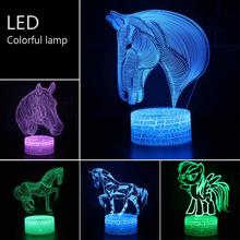 Acrylic acid Colorful touch Three-dimensional Night light Small table lamp Bedside lamp LED Birthday festival Decorative lamp