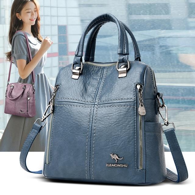 Женские кожаные сумки через плечо