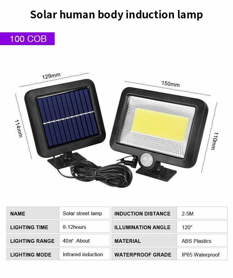 luz pir sensor de movimento lâmpada solar
