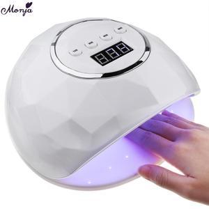 Image 1 - 86W UV LED Lampe DIY Hause Nagel Kunst Trockner 39 Pcs LED Gel Polnisch Schnelle Aushärtung Nagel Lampe Smart auto Sensor Timer Maniküre Maschine