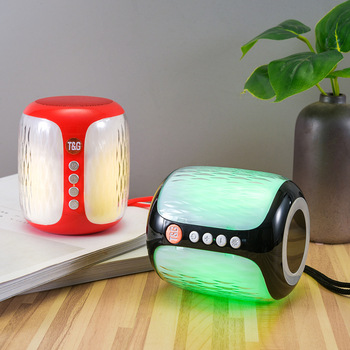 Mini altavoz LED TG611 con Bluetooth, columna de altavoz portátil inalámbrica, caja...