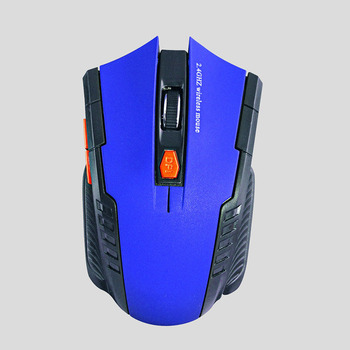 2020 Best Sellers Game mouse 2.4GHz Wireless Mice With USB Receiver Gamer 1600DPI Mouse For Computer PC Laptop Super Slim Mouse - Blue, China