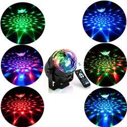 RGB светодиодный вечерние Эффект диско шар свет Лазерное освещение сцены Лампа проектор RGB сценическая лампа музыка KTV фестиваль вечерние