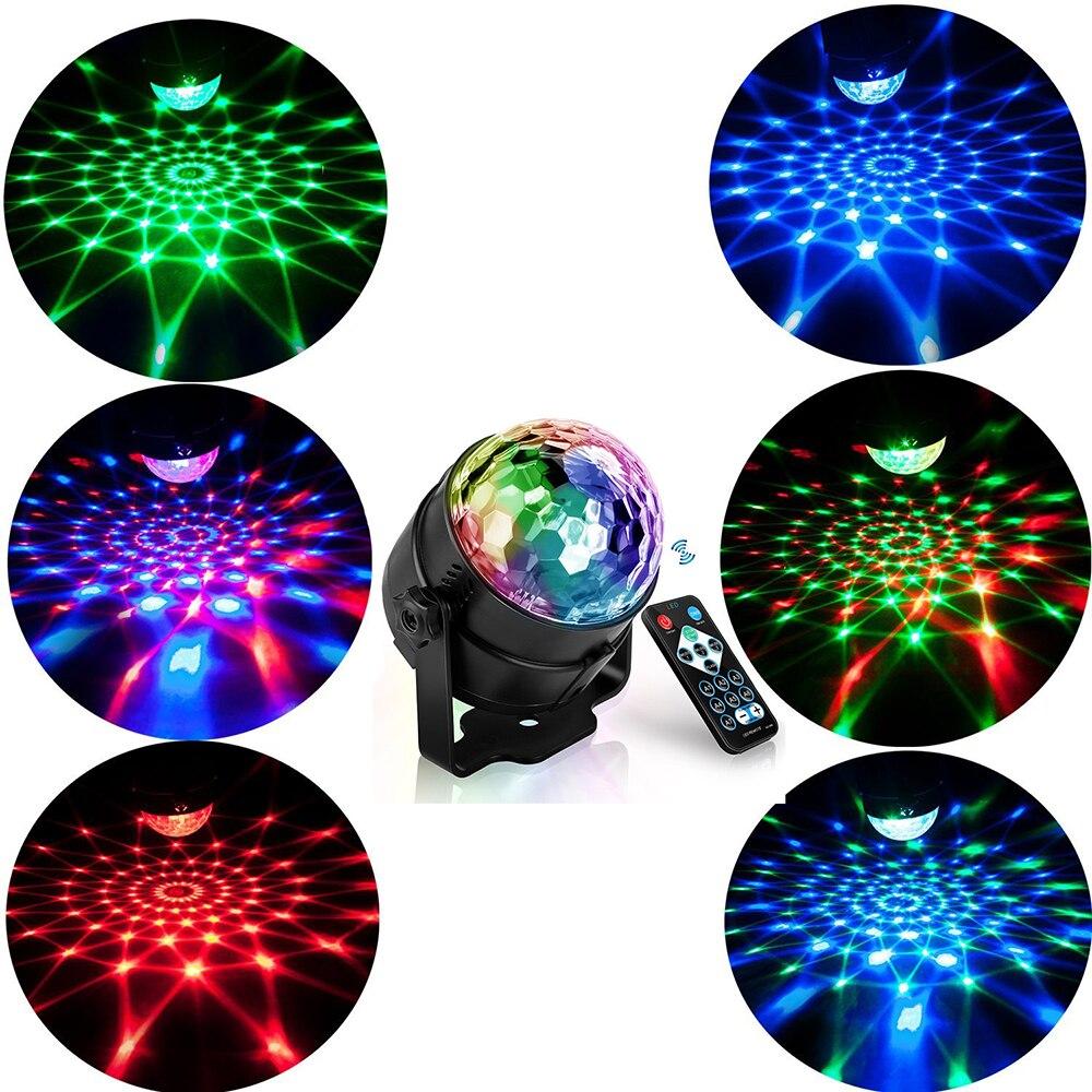 RGB LED تأثير حفلة ديسكو الكرة ضوء المرحلة ضوء مصباح ليزر العارض RGB مصباح منصة الموسيقى KTV مهرجان مصباح LED للحفلات إضاءات دي جي