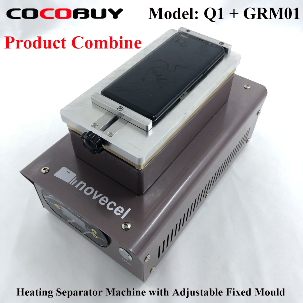 Novecel Q1 Heating Separator Machine With Universal Adjustable Fixture Mould For Mobile Phone LCD Screen Repair OCA Glue Clean