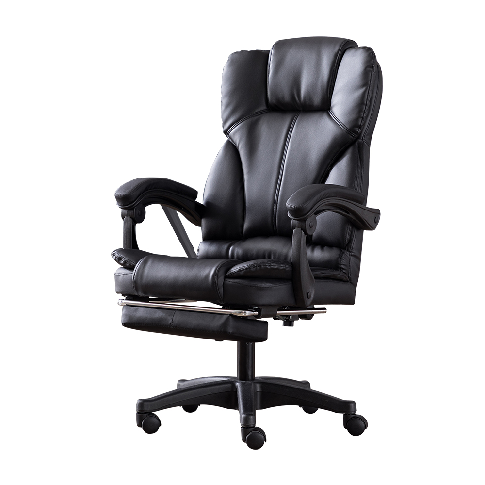 High Quality Ergonomic Office Boss Chair Internet Household Reclining Leather Staff Chair Swivel Gaming Chairs For Computer