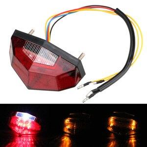 Image 5 - مصباح خلفي للدراجات النارية ، 11 مصباح LED ، ضوء توقف ، مؤشر إشارة الانعطاف ، ملحقات دراجة نارية