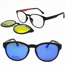 كلاسيك 001 ULTEM wayframe شكل النظارات البصرية الإطار مع مشبك مغناطيسي على النظارات الشمسية المستقطبة العدسات مفيد 2 في 1 نظارات