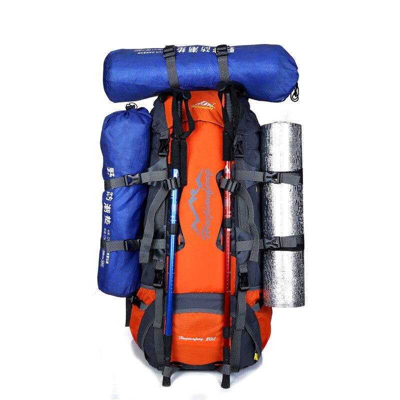 Рино Ху Вай Цзянь Фэн 80л большой емкости открытый горный альпинистский Рюкзак ремень подшипник системы открытый рюкзак - 2