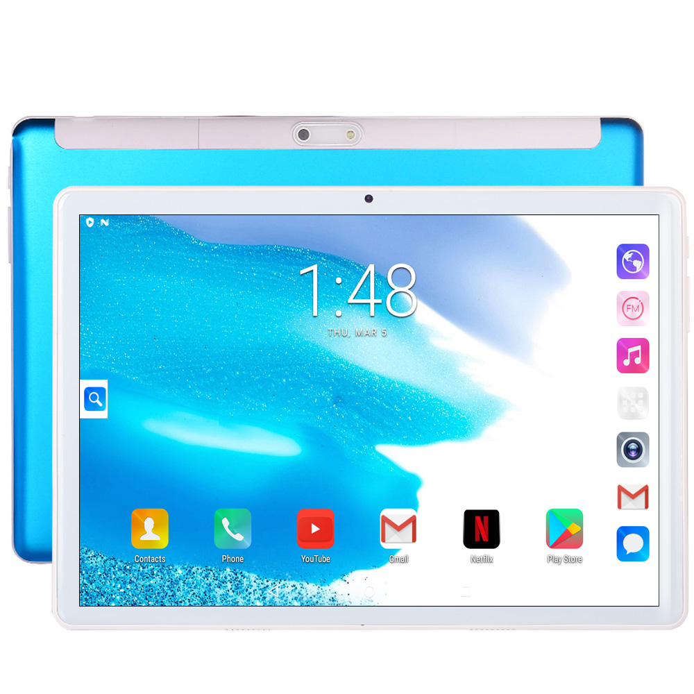 New Arrival Original 10.1 Inch 3G Google Tablets Android 7.0 2.5D Glass Android Tablet Pc 3G Phone Call GPS WiFi Bluetooth 10