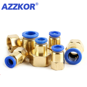 Pneumatic Air Tube Connector The Female Thread Brass Connector Quick Straight Through Joint 1/2''1/4''3/81/8--4 6 8 10 12mm 5pcs pg4 6 4 8 6 8 6 10 8 10 8 12 10 12mm straight union reducer fitting pneumatic push to connect air connector socket plug