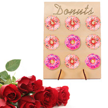 DIY Donut Wall Dessert Bar For Weddings Wedding Decoration Donuts Wall Holds Sweet Rustic Donut Boards Stand Wooden(China)