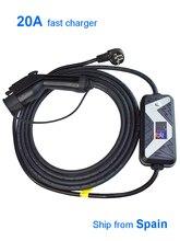 Cable de carga EV, cargador de batería para coche, Tipo portátil para el hogar, adaptador de conector J1772, coches eléctricos