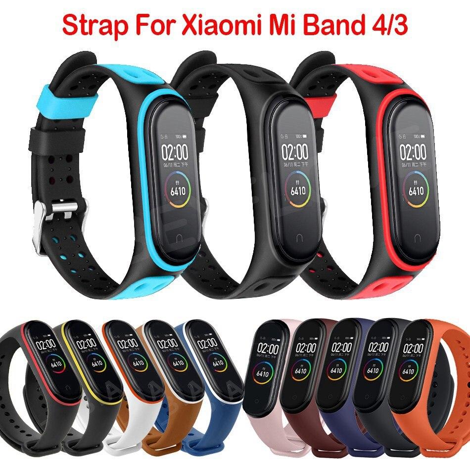 Protector Mi Band 4 3 Strap Wrist Strap For Xiaomi Mi Band 3 4 Bracelet Silicone Miband 3 4 NFC Accessories Smart Mi4 Wristband(China)