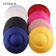 26cm okrągłe stałe kopii sinamay fascinator baza DIY akcesoria do włosów młyn do spodek materiał party event okazje kapelusze 6 sztuk/partia