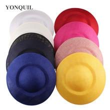 26cm עגול מוצק עותק sinamay fascinator בסיס DIY שיער כובעי אביזרי צלחת חומר מסיבת אירוע אירוע כובעי 6 יח\חבילה