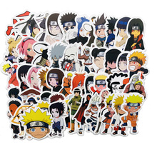 50Pcs Sticker Japan Anime Naruto Stickers Cartoon for Snowboard Laptop Luggage Fridge Car- Styling Vinyl Decal Stickers