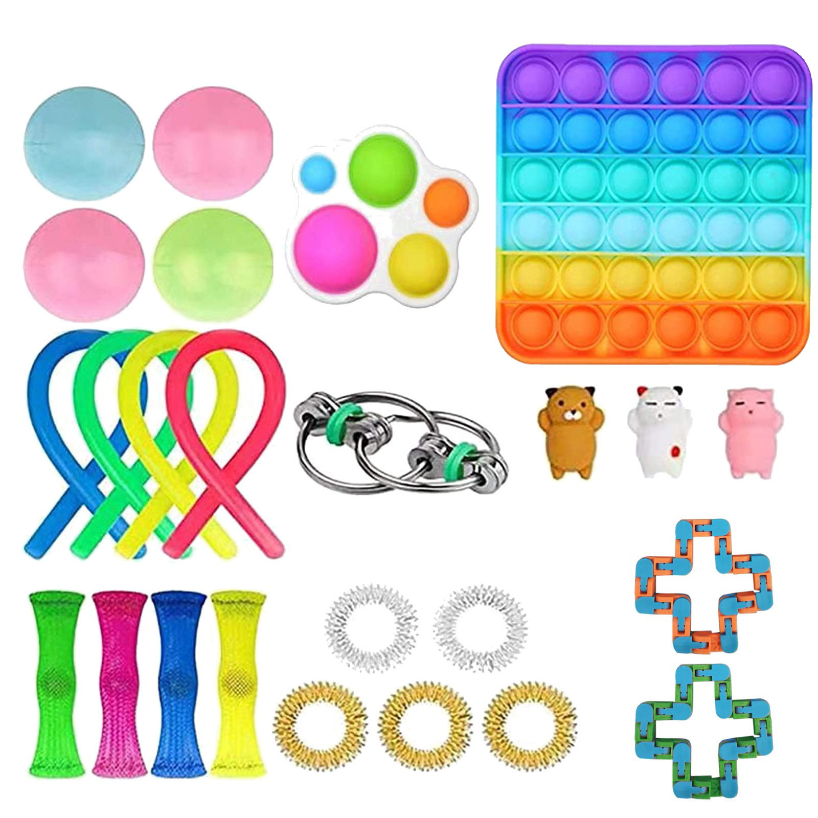 Fidget-Toys Anti-Stress-Set Sensory Gift-Pack Strings Relief Squishy Adults Kids Stretchy img2