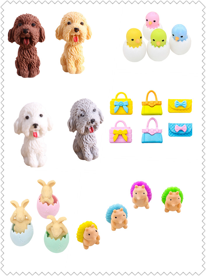 1pcs/pack Various Animal Cartoon Airplane Model Rubber School Office Stationery Supplies Drawing Accessories Eraser