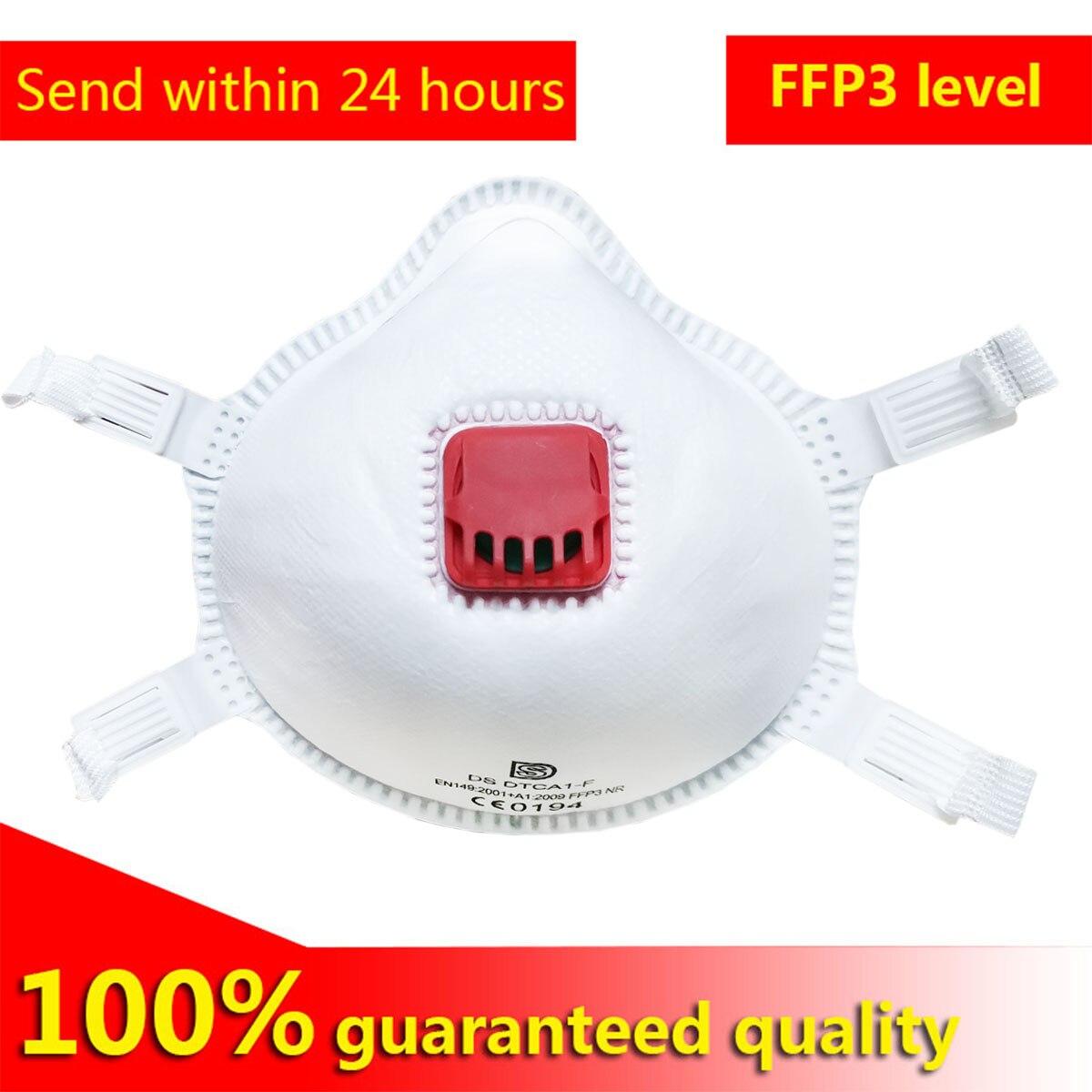 5 pièces 10 pièces 20 pièces de FFP3 masques véritables hommes et femmes anti-poussière et anti-buée masques PM2.5 FFP3 masque niveau