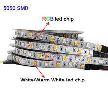 5m DC12V 24V RGBW RGBWW RGB+CCT LED Strip light,RGB +( White/Warm White) SMD 5050 Flexible led lamp tape