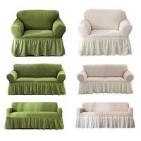 Stretch Sofa Cover Popcorn Woven Woven Plaid All inclusive Wear resistant Sofa Cushion
