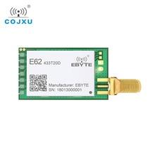 433MHz TCXO كامل دوبلكس rf وحدة ebyte E62 433T20D طويلة المدى جهاز الإرسال والاستقبال اللاسلكي iot الارسال والاستقبال UART